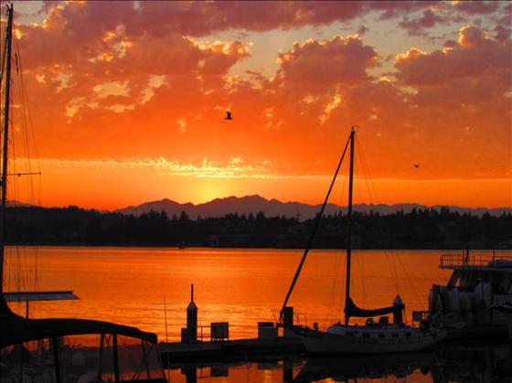 Port Orchard at Sunset
